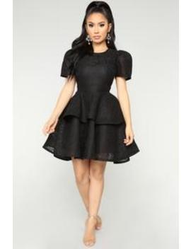 Plastic Princess Dress   Black by Fashion Nova