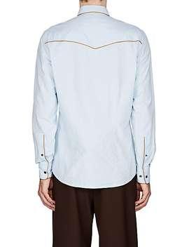 Cotton Oxford Cloth Western Shirt by Dries Van Noten