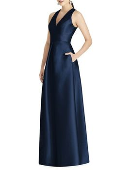 Royal Strapless Twill Dress by Alfred Sung