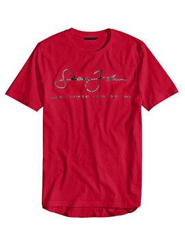 Men's Signature Script T Shirt, Created For Macy's by Sean John