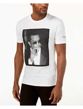 Men's Diddy White Party Graphic Print T Shirt by Sean John
