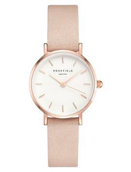 Small Edit Leather Strap Watch, 26mm by Rosefield
