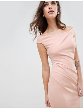 City Goddess Fishtail Maxi Dress With Pleating Detail by Maxi Dress