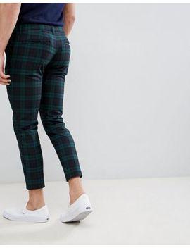 Pull&Amp;Bear   Pantalon Ajusté   Carreaux Verts by Pull&Bear
