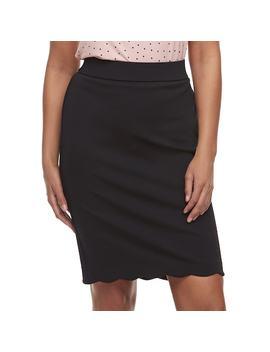 Women's Elle™ Scallop Hem Pencil Skirt by Kohl's