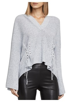 Caitlyn Lace Up Hooded Sweater  by Bcbgmaxazria