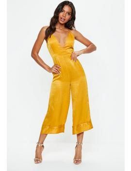 Mustard Yellow Cami Culotte Jumpsuit by Missguided