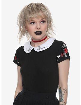 Her Universe Disney Alice In Wonderland Peter Pan Collar Girls Top by Hot Topic