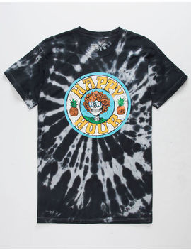 Happy Hour Skull N Roses Mens T Shirt by Happy Hour