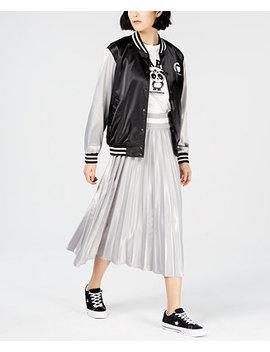 Satin Graphic Varsity Jacket, Created For Macy's by Nicopanda