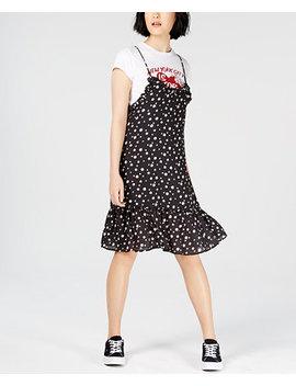 Layered Printed T Shirt Dress by Nicopanda