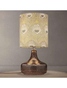 Liberty Fabrics & John Lewis Caesar Chinois Crackle Table Lamp, Grey by Liberty Fabrics & John Lewis