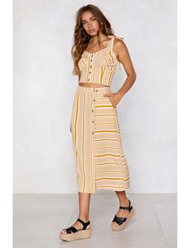 That's Line With Me Midi Skirt by Nasty Gal