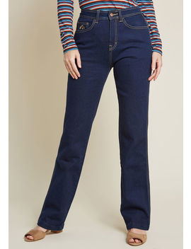 Jordache Eye Catching Essential High Waisted Jeans In Dark Wash by Jordache