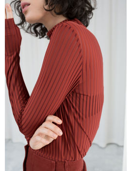 Sheer Striped Turtleneck by & Other Stories