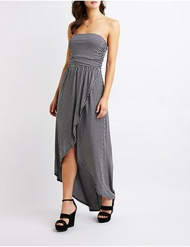 Striped Wrap Maxi Dress by Charlotte Russe