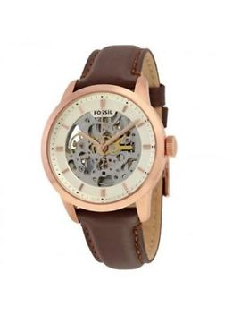 Fossil Me3078 Townsman Automatic Skeleton Dial Brown Leather Strap Men's Watch by Fossil