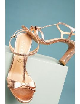 Vicenza Metallic Bow T Strap Heels by Vicenza