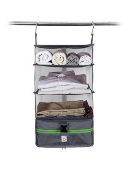 Portable Luggage System   Packable Hanging Travel Shelves & Cube Organizer by Modernhome