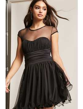 Kikiriki Fit & Flare Mesh Dress by Forever 21