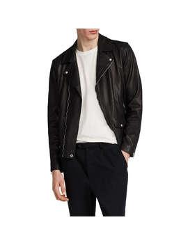 All Saints Jace Leather Biker Jacket, Black by Allsaints