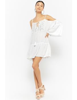 Boho Me Embellished Open Shoulder Dress by Forever 21