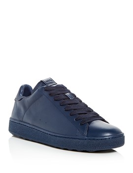Men's C101 Leather Lace Up Sneakers by Coach