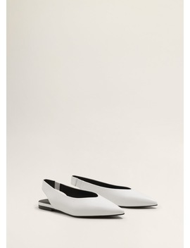 Pointed Toe Leather Shoes by Mango