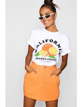 California Orange County Slogan Tee by Boohoo
