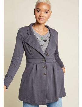 Options And Consequences Knit Jacket In Grey by Modcloth