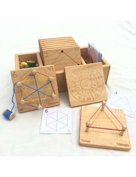 Wooden Geometry Cards    Homeschool Math Toy    From Jennifer by Etsy