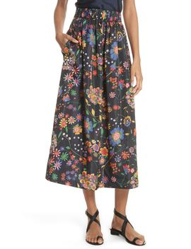 Print Tech Floral Skirt by Tibi