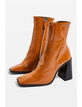 Hurricane Leather Boots by Topshop