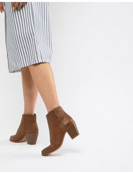 Asos Design Remedy Zip Ankle Boots by Asos Design