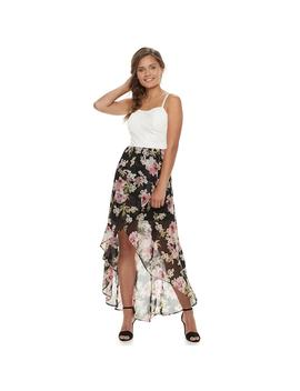 Juniors' Lily Rose High Low Floral Maxi Dress by Kohl's