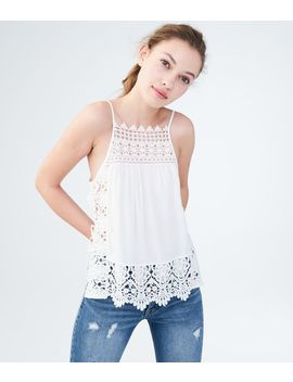 Solid Lacy Tank by Aeropostale