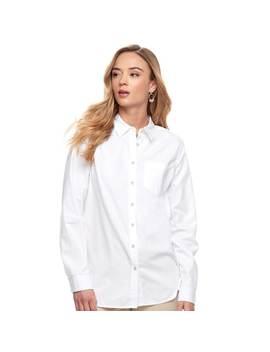 Women's Sonoma Goods For Life™ Essential Poplin Shirt by Kohl's