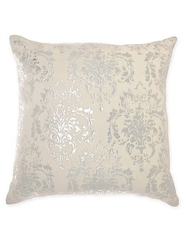 Mina Victory By Nourison Distressed Damask Square Throw Pillow by Bed Bath And Beyond