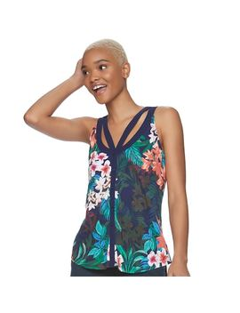 Juniors' Candie's® Cutout Button Front Tank by Juniors' Candie's