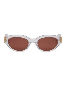 Transparent & Burgundy Cr39 Drew Sunglasses by Super