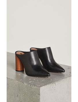 Antonia Black Leather Mule by Bcbgmaxazria