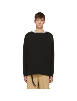 Black Unfinished Hem Sweatshirt by Name.