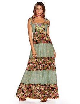 Nomad Camo Embellished Maxi Dress by Boston Proper