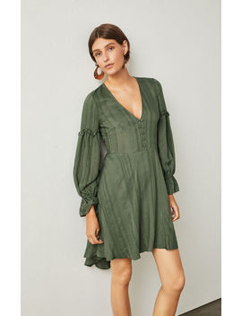 High Low Jacquard Dress by Bcbgmaxazria