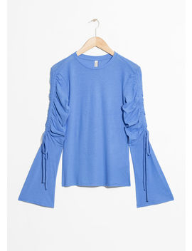 Drawstring Bell Sleeve Blouse by & Other Stories