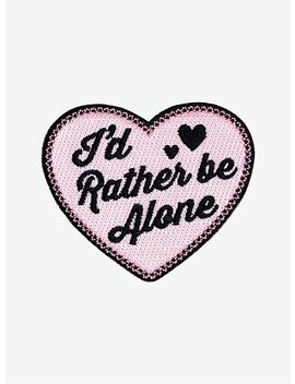 Rather Be Alone Heart Patch by Hot Topic
