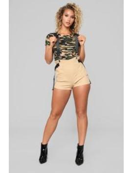 Keep It Chill Shorts   Khaki by Fashion Nova