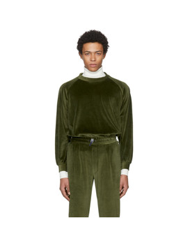 Green Velour Sweatshirt by Sunnei