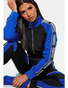 Blue Striped Girl Cropped Hoodie by Missguided