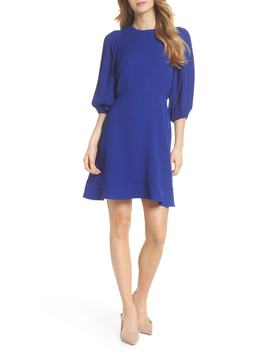 Blouson Sleeve Fit & Flare Dress by Chelsea28
